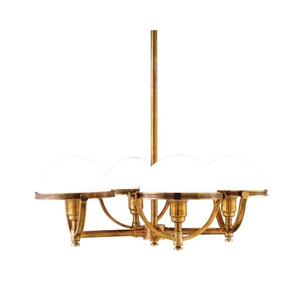 Hudson Valley Stratford 4-light Brass Chandelier