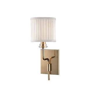 Hudson Valley Gorham 1-light Brass Wall Sconce