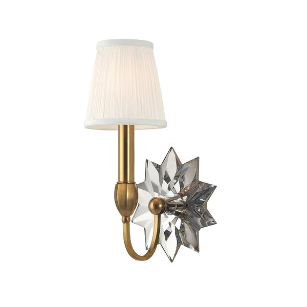 Hudson Valley Barton 1-light Brass Wall Sconce