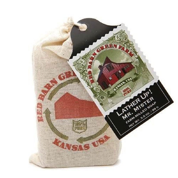 Mr. Mister Farm Red Barn Green Farm Lather Up! 3.5-ounce Milled Soap