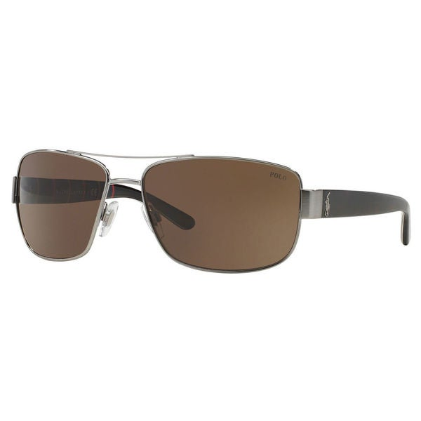 Polo Ralph Lauren Men's PH3087 Metal Pillow Sunglasses