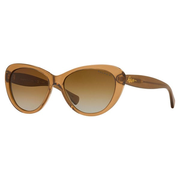 Ralph by Ralph Lauren Women's RA5189 Plastic Cat Eye Polarized Sunglasses