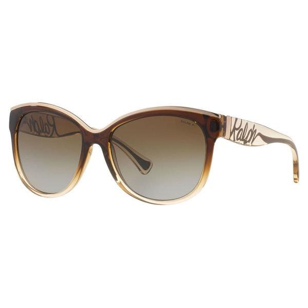 Ralph by Ralph Lauren Women's RA5178 Plastic Cat Eye Polarized Sunglasses