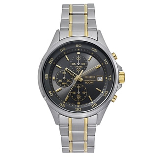 Seiko Men's SKS481 Stainless Steel Two Tone Chronograph Watch