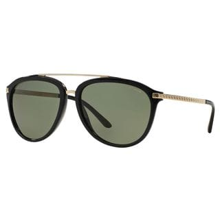 Versace Men's VE4299 Plastic Pilot Polarized Sunglasses