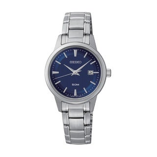 Seiko Women's SUR849 Stainless Steel Blue Dial Classic Design Watch
