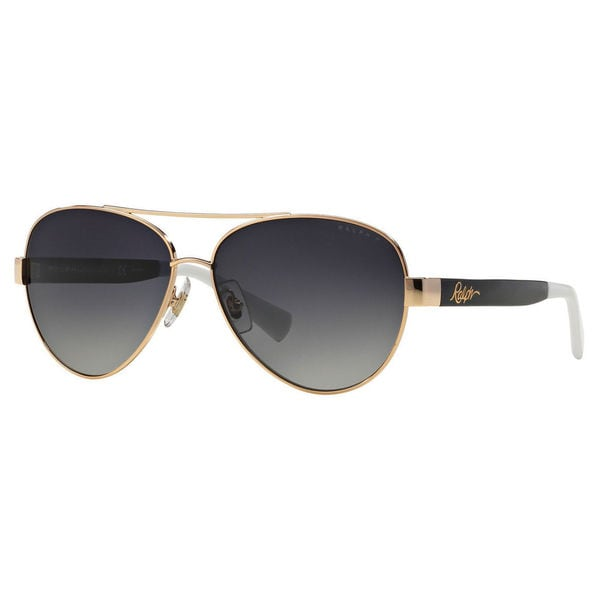 Ralph by Ralph Lauren Women's RA4114 Metal Pilot Polarized Sunglasses