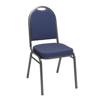 Im520 Armless Stacking Chair Fabric Silver Frame 2in Seat