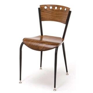 Metal Bar Stool Wood Seat and Back