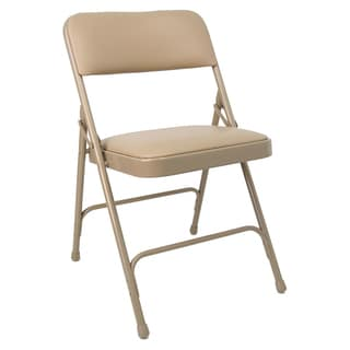 8100 Folding Chair Beige Vinyl and Frame