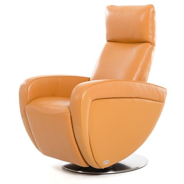 Divani Casa Maple Modern Orange Italian Leather Reclining Chair