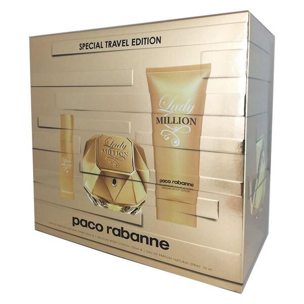 Paco Rabanne Lady Million Women's 3-piece Gift Set