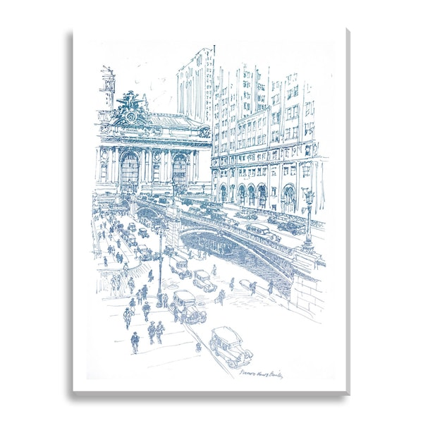 Park Avenue Viaduct and Grand Central Terminal Oversized Canvas Gallery Wrap
