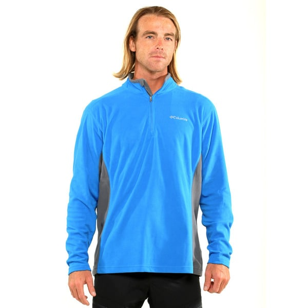 Columbia Men's Blue Klamath Range II Half Zip