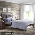Grain Wood Furniture Shaker Slated Full Platform Solid Wood Bed