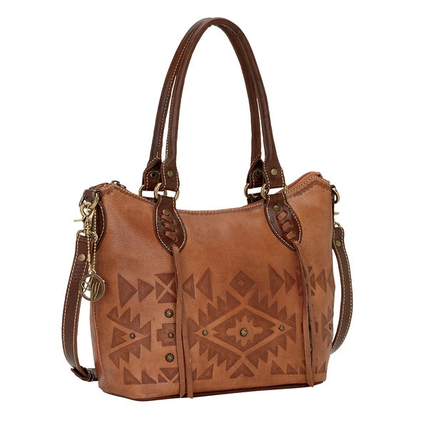 American West Mystic Shadow Collection Convertible Zip Top Tote Bag