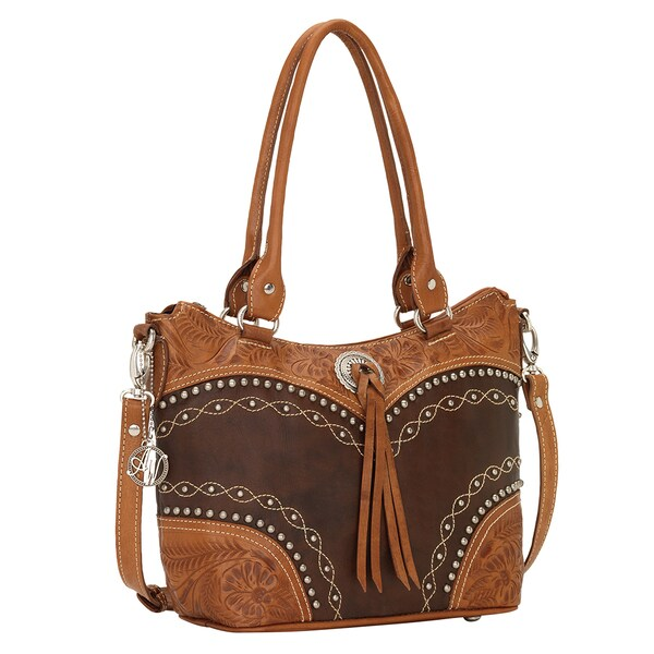 American West Chestnut Ridge Convertible Zip Top Tote Bag