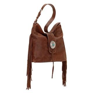 American West Seminole Brown Hobo Handbag