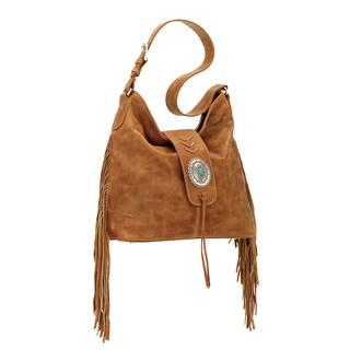 American West Seminole Tan Hobo Handbag
