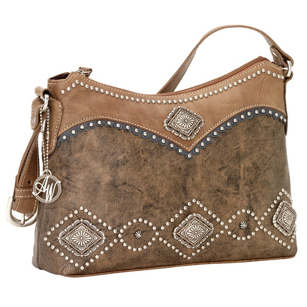 American West Sierra Zip Top Shoulder Bag