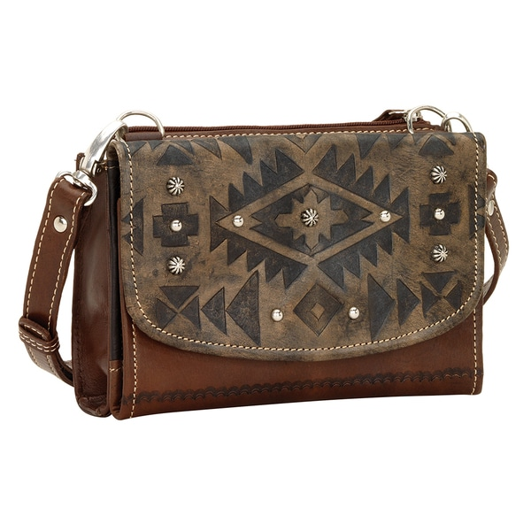 American West Mystic Shadow Crossbody Wallet