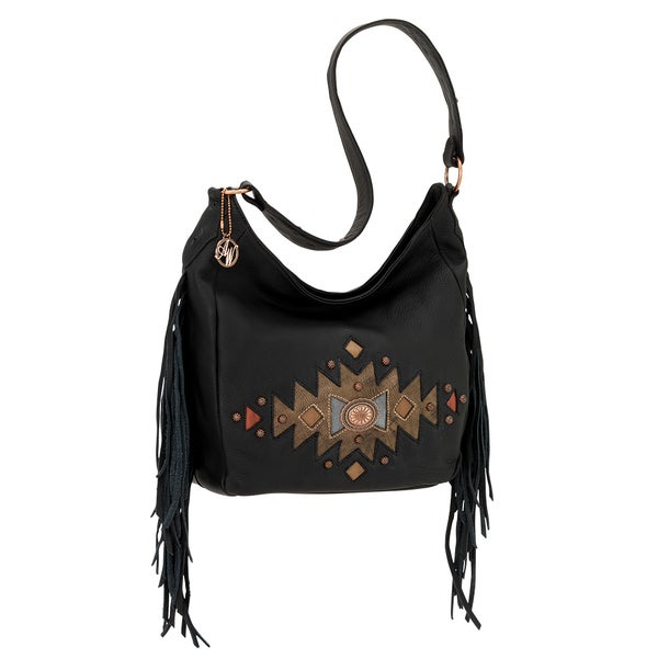 American West Dream Catcher Black Shoulder Bag