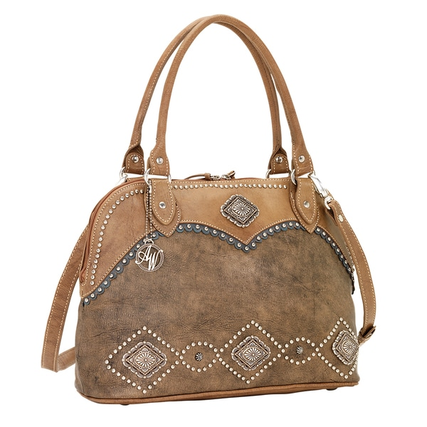 American West Sierra Zip-around Satchel Crossbody Bag
