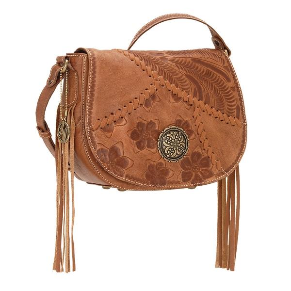 American West Soho Groove Brown Crossbody Bag