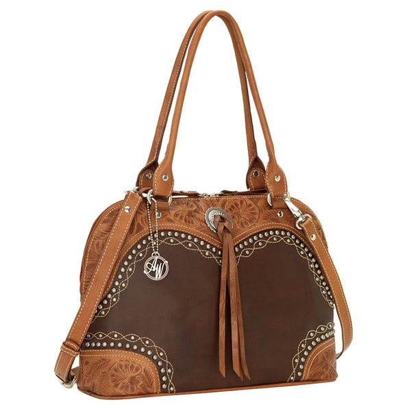 American West Chestnut Ridge Satchel/ Crossbody Bag