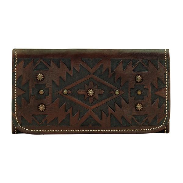 American West Dark Mystic Shadow Collection Tri-fold Wallet