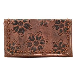 American West Light Brown Flower Child Wallet