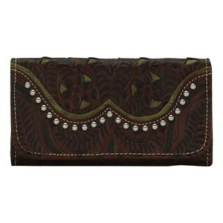 American West Brown/ Green Annies Secret Wallet