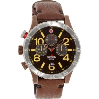 Nixon Men's 48-20 A3631625 Brown Leather Quartz Watch