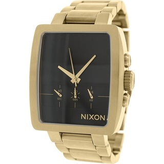 Nixon Men's Axis A324501 Gold Stainless Steel Quartz Watch