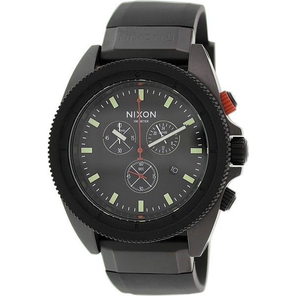 Nixon Men's Rover Chrono A290760 Black Silicone Quartz Watch