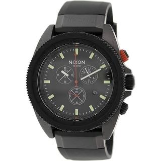 Nixon Men's Rover Chrono A290760 Black Silicone Quartz Watch