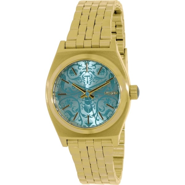 Nixon Women's Time Teller A3991899 Gold Stainless Steel Quartz Watch