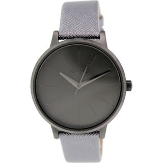Nixon Women's Kensington A1081924 Grey Leather Quartz Watch