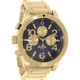 Nixon Men's 48-20 A4861922 Gold Stainless Steel Quartz Watch