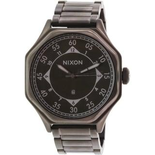 Nixon Men's Falcon A195632 Gunmetal Stainless Steel Quartz Watch