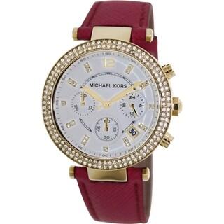 Michael Kors Women's Parker MK2297 Whiskey Leather Quartz Watch