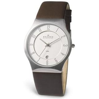 Skagen Men's Classic 233XXLSL White Leather Quartz Watch