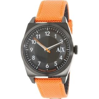 Armani Exchange Men's AX2305 Orange Leather Quartz Watch