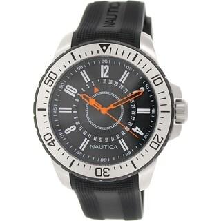 Nautica Men's Nst 15 N14661G Black Rubber Quartz Watch
