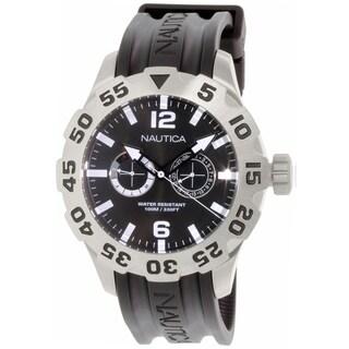 Nautica Men's Bfd 100 N16600G Black Rubber Quartz Watch