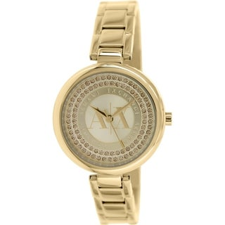 Armani Exchange Women's Smart AX4221 Gold Stainless Steel Quartz Watch
