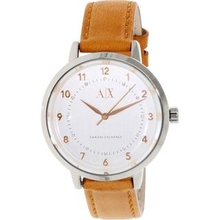 Armani Exchange Women's AX5367 Bronze Leather Quartz Watch