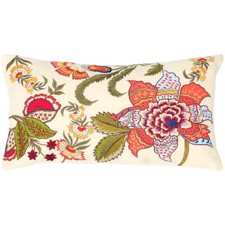 Rizzy Home 11-inch x 21-inch Floral Accent Pillow