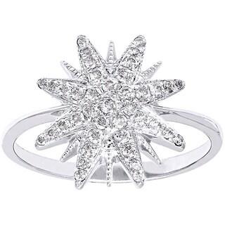 Beverly Hills Charm 14K White Gold 1/4ct TDW Diamond Star Ring (H-I, SI2-I1)