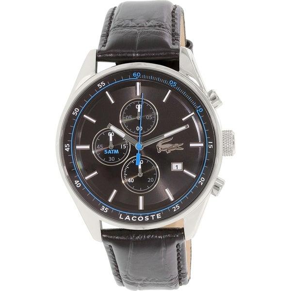 Lacoste Men's Dublin 2010784 Black Leather Quartz Watch